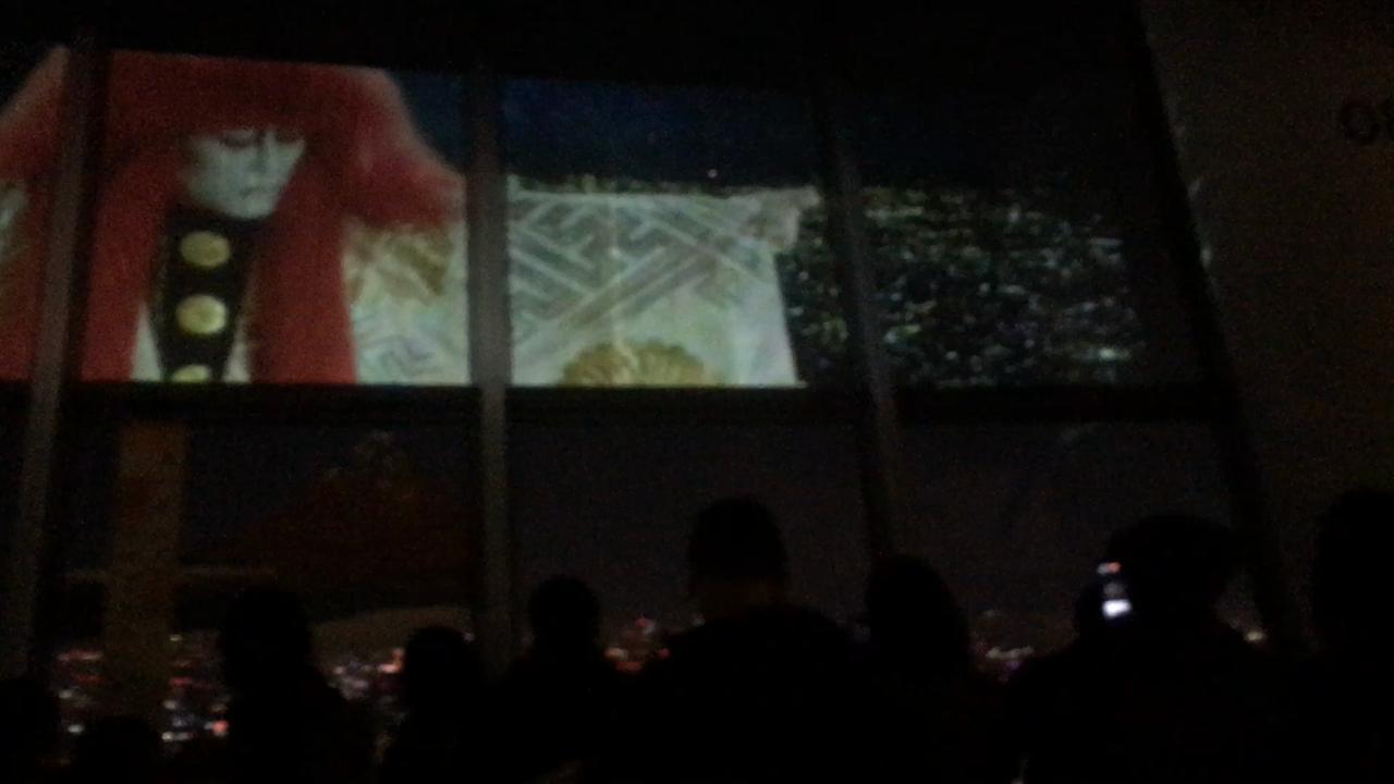 期間限定で歌舞伎のプロジェクションマッピングがやっていました