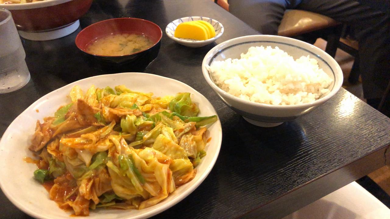 豚キャベツ定食