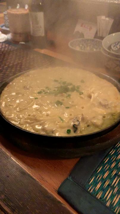 牡蠣と溶き卵のふわふわ