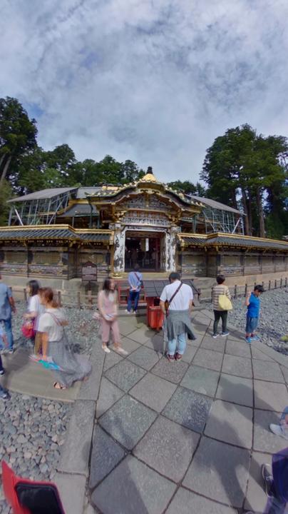 日光東照宮 本殿前 360°写真