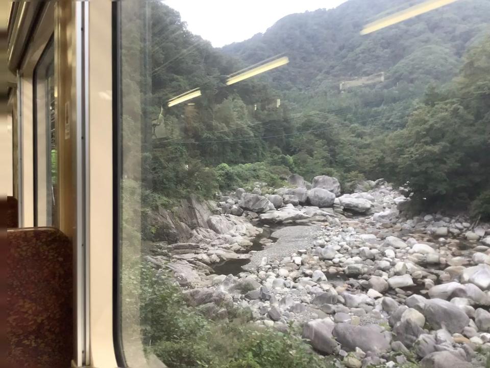 わたらせ渓谷鐵道 車両からの景色③
