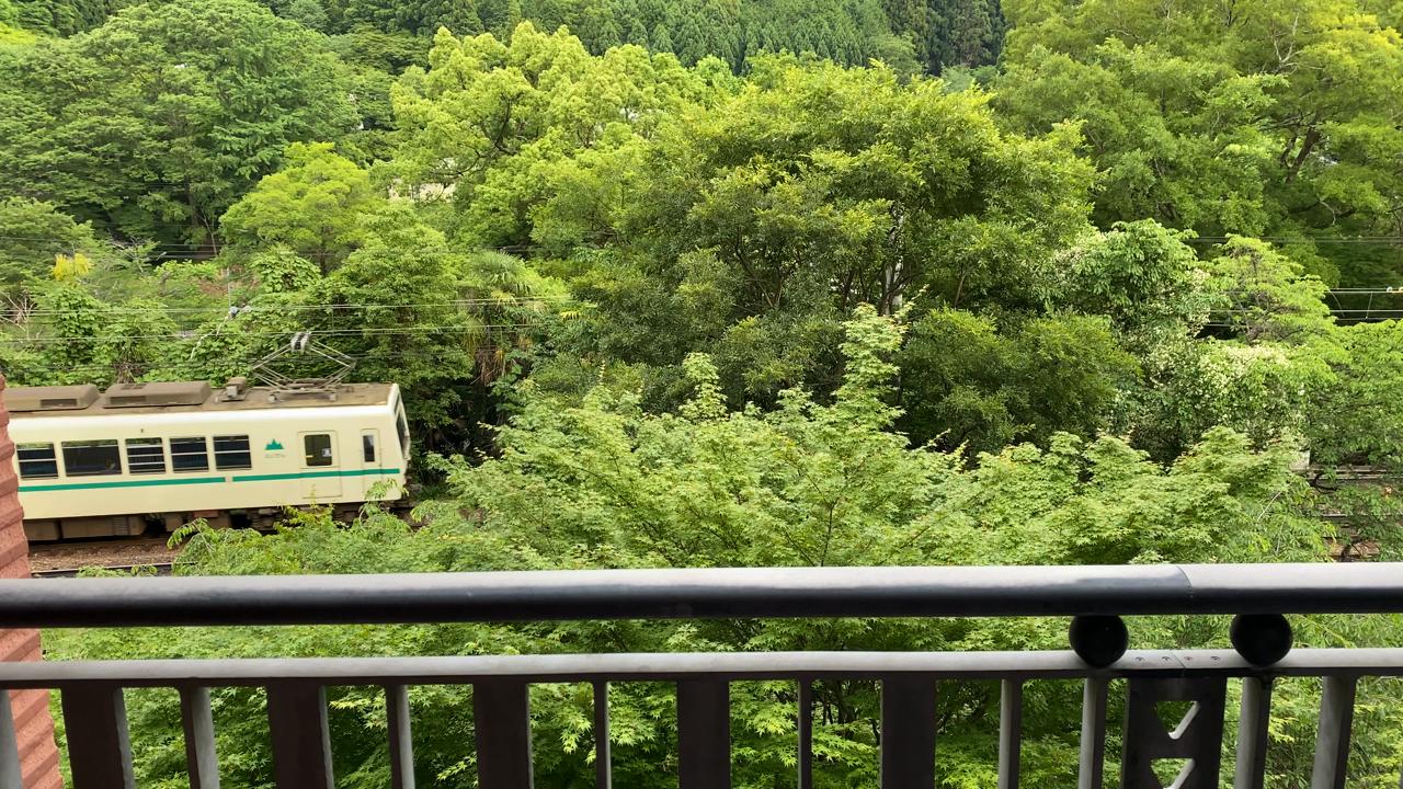 ◎部屋から叡山電車が