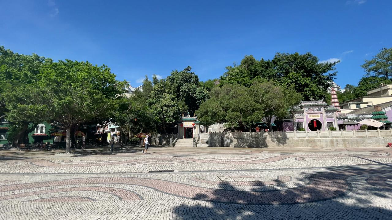 媽閣廟〜バラ広場