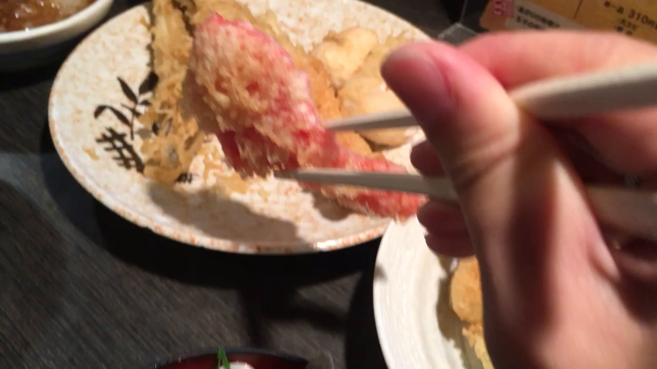大好きな紅生姜の天ぷら